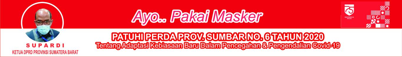Iklan Ketua DPRD Sumbar Supardi Pakai Masker(baru)