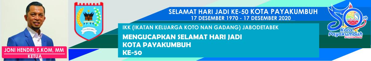 Iklan Selamat Hari Jadi Kota Payakumbuh - Joni Hendri ok