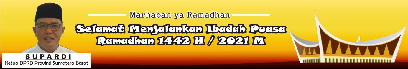 Iklan Ramadhan Ketua DPRD Sumbar Supardi (ok)