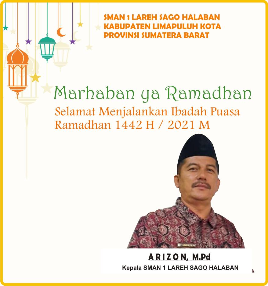 Iklan Banner Ramadhan Kepala SMAN 1 LSH Liko yes