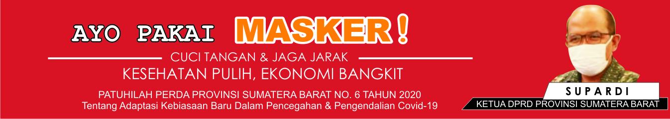 Iklan Ketua DPRD Sumbar Supardi Ayo Pakai Masker