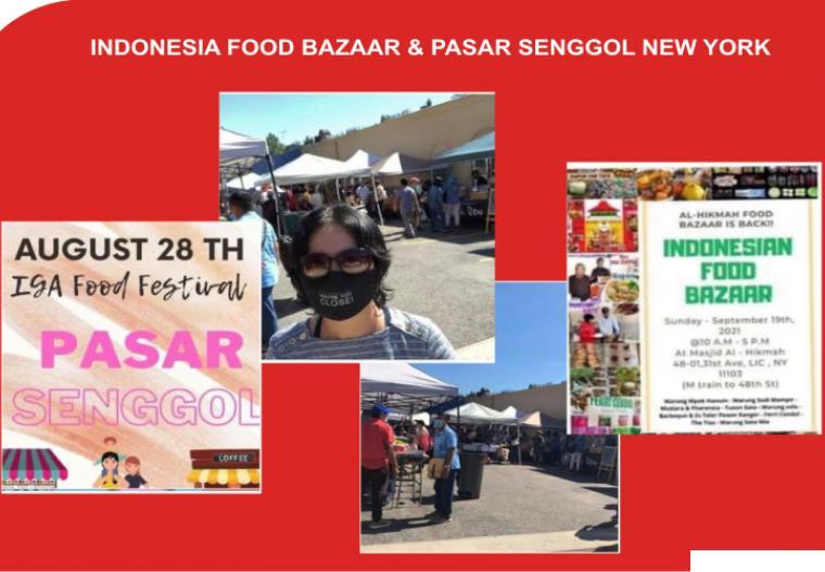 Suasana Indonesia Bazaar New York 2021, Minggu (19/09/2021). Aneka makanan khas Indonesia dipasarkan diperkenalkan dan dipasarkan di ajang ini. IST