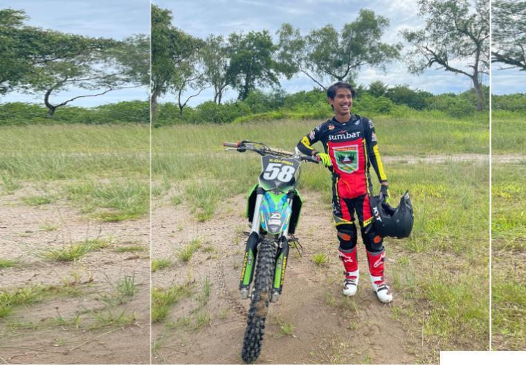 Daffa Zulfikar atlet balap motor PON XX Papua Kontingen Sumbar asal Dharmasraya. DI