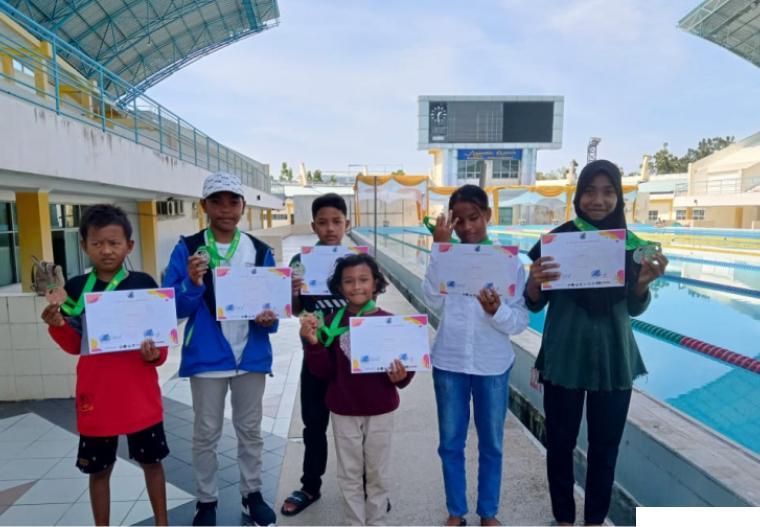 Para atlet RSC memboyong sembilan medali dari iven Atlantis Swimming Championship se Sumatera di Rumbai Pekanbaru Riau. DI