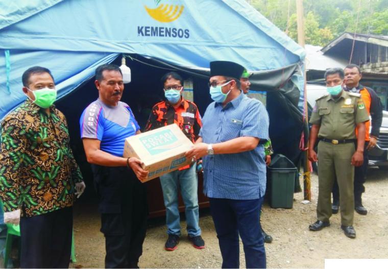 Benny Utama Kunjungi Posko Covid-19 Perbatasan  Sumbar-Sumut