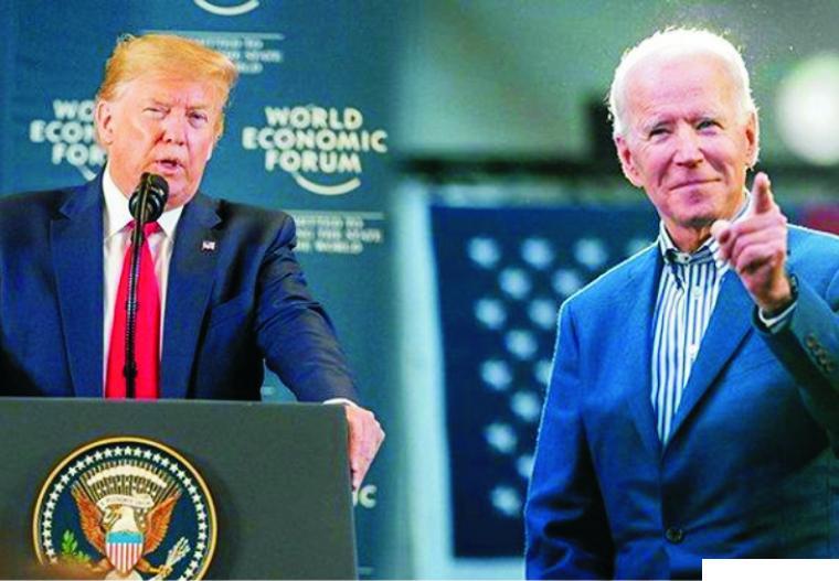 Trump dan Joe Biden. NET