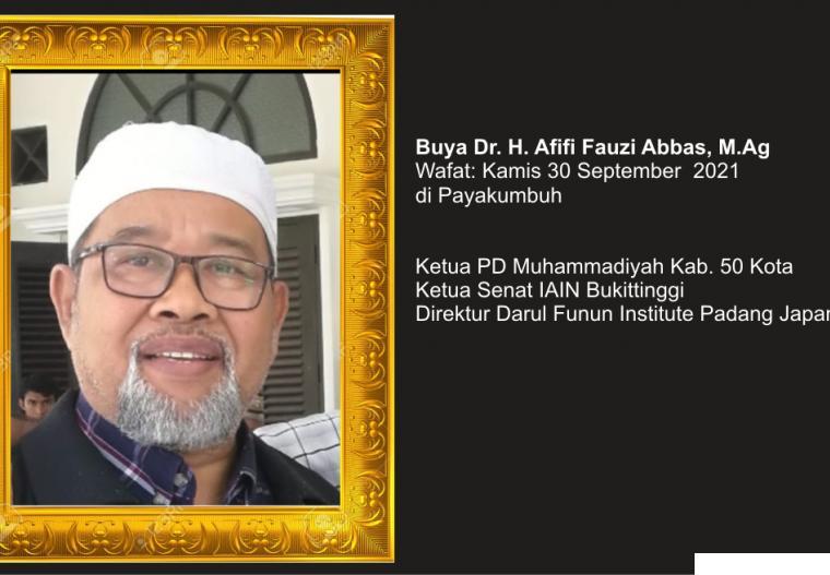 Buya Dr. H. Afifi Fauzi Abbas, M.Ag. IST