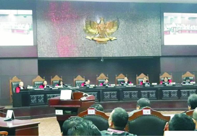 Persidangan di Mahkamah Konstitusi (MK) RI di Jakarta. NET