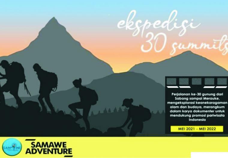 Rencana mendaki 30 puncak gunung di Indonesia sembari mengkhatamkan Alquran, itulah  misi yang diusung dalam ekspedisi pendakian yang digagas komunitas asal Bekasi, Samawe Adventure. NET