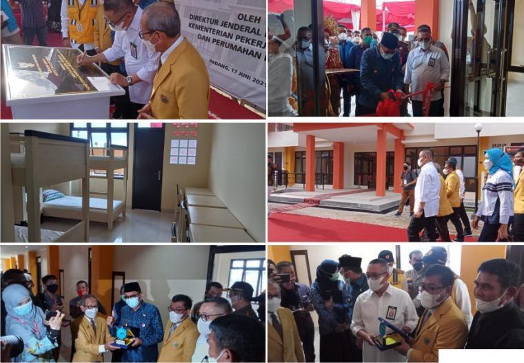 Peresmian Rusunawa ITP oleh Dirjen Perumahan Kementerian PUPR RI Dr. H. Khalawi Abdul Hamid, M.Sc, MM, dan Walikota Padang Hendri Septa, Kamis (17/06/2021) sore. ERZ