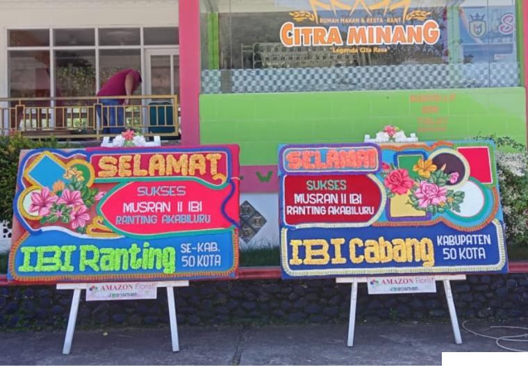 Lokasi acara Musran II IBI Ranting Akabiluru tahun 2021 di Aula RM. Citra Minang, Jl. Raya Payakumbuh-Bukittinggi, Jumat (16/07/2021). ERZ