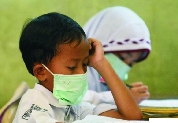 Pembelajaran tatap muka di salah satu sekolah dasar (SD). NET