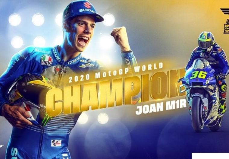 Joan Mir, juara dunia motor GP 2020 dari Suzuki. NET
