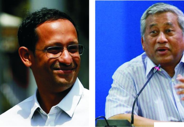 Menteri Pendidikan dan Kebudayaan Nadiem Makarim dan mantan Menteri Pendidikan Muhammad Nuh yang kini menjabat sebagai Ketua Dewan Pers. NET