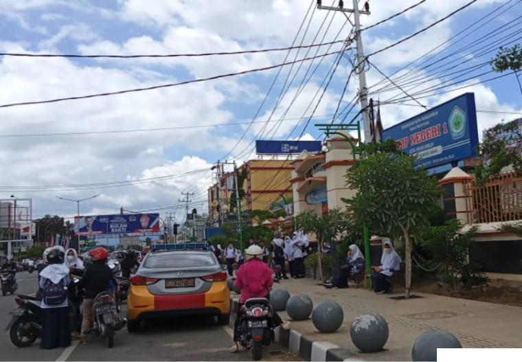 Siswa SPMN 1 Kota Payakumbuh sudah mulai pembelajaran tatap muka (PTM). ERZ