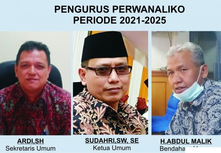Pengurus Perwatuan Wali Nagari Limapuluh Kota (Perwanaliko) Periode 2021-2025 yang terpilih, Rabu (03/03/2021). JNC