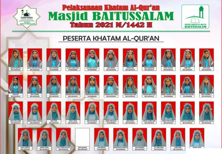 Peserta Khatam Alquran Masjid Baitussalam Koto Baru Balai Janggo Payakumbuh, Kamis (01/07/2021). DOK. PANITIA