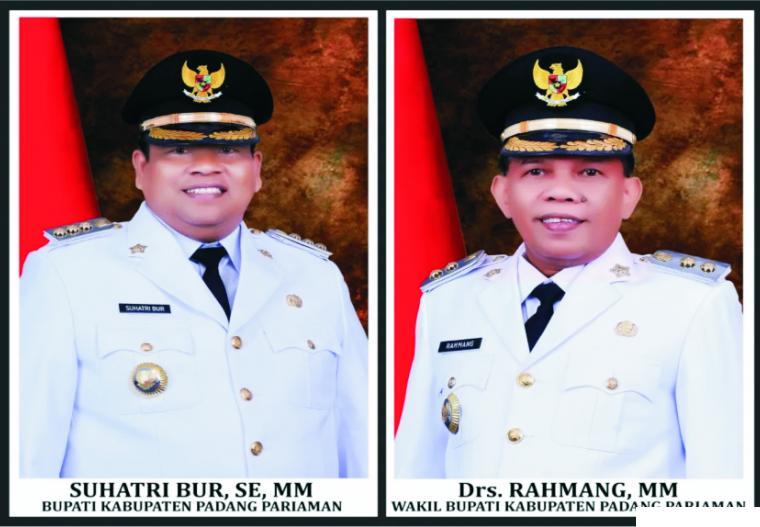 Suhatri Bur, SE, MM dan Drs. Rahmang, MM adalah Bupati dan Wakil Bupati Padang Pariaman yang baru dilantik oleh Gubernur Sumbar, Jumat (26/02/2021) di Padang. HUMAS