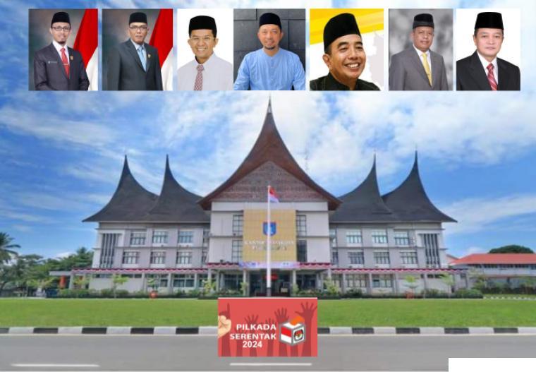 Kantor Walikota Payakumbuh dan sejumlah sosok yang namanya digadang-gadang bakal bertarung di Pilkada Kota Payakumbuh 2024. JNC