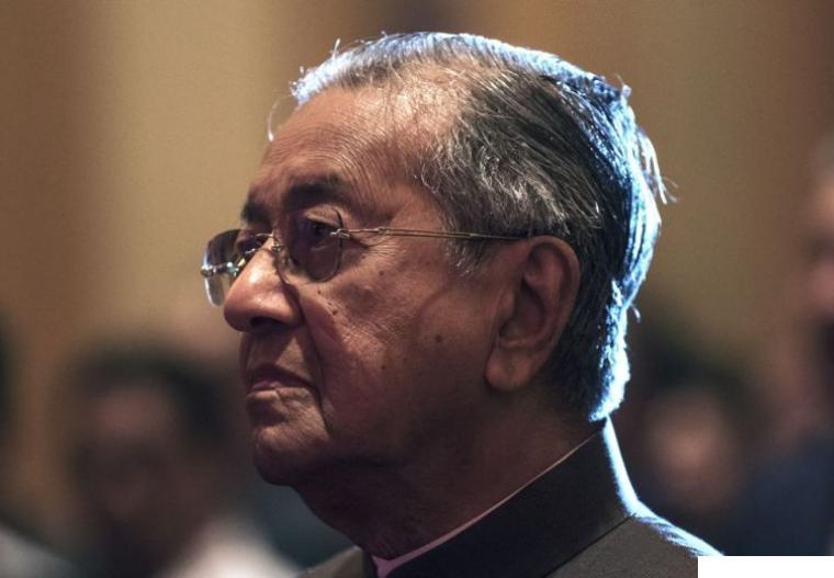 PM Malaysia Mahathir mundur dari jabatan, Senin (24-02-2020).