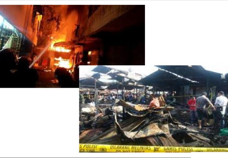 Ratusan kios Pasar Bawah Bukittinggi terbakar, Sabtu (11/09/2021) pukul 02.00 WIB dini hari. NET
