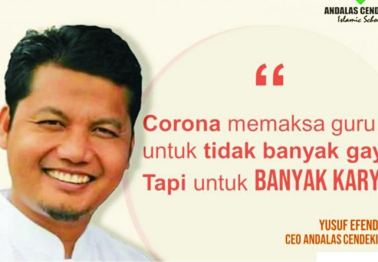 Ketua Yayasan Andalas Cendikia, Yusuf Efendi, Lc.