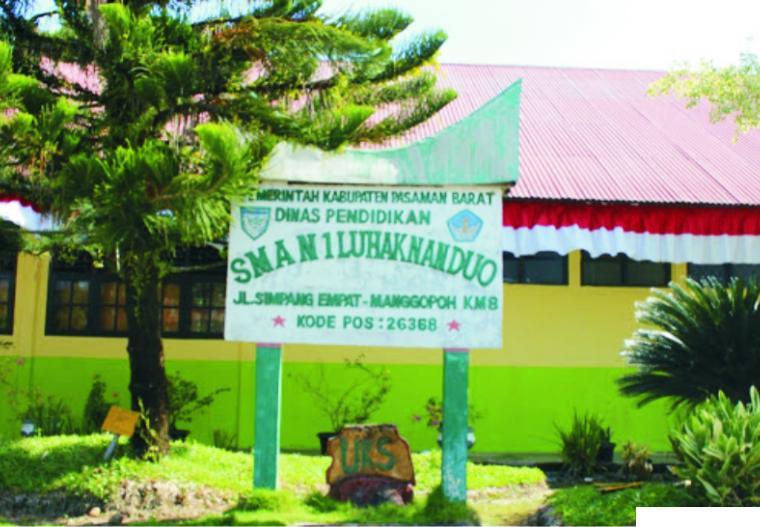 SMAN 2 Luhak Nan Duo Kabupaten Pasaman Barat. NET