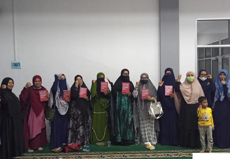 Di antara peserta Kajian masyarakat tanpa riba (MTR) di Aula Kantor Kecamatan Payakumbuh Utara, Selasa (06/07/2021). ERZ