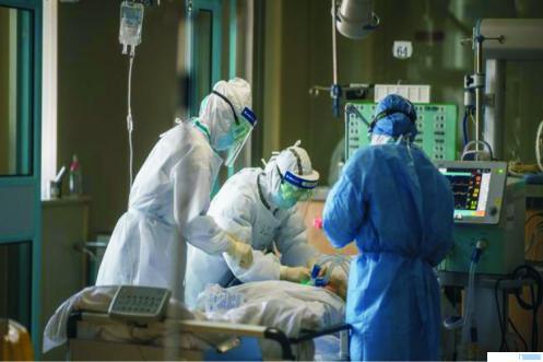 Ilustrasi Penanganan pasien corona.