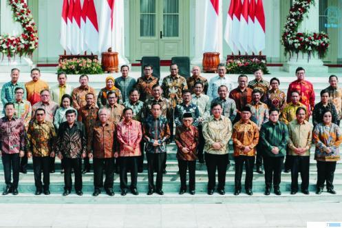 Kabinet Presiden Jokowi yang akan direshufle dalam waktu dekat. NET