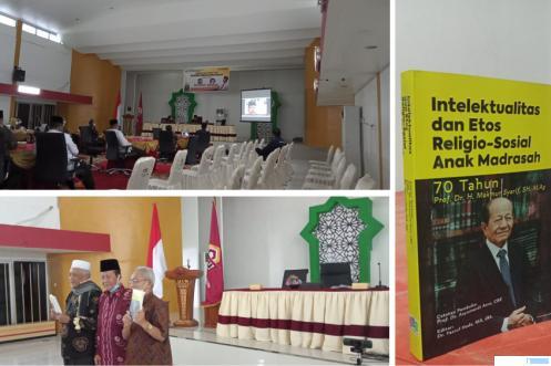 Peluncuran, seminar, dan bedah Buku Autobigrafi Prof. Dr. H. Makmur Syarif, SH, M.Ag (Rektor IAIN IB Padang), Selasa (14/09/2021) di Aula UIN IB Padang. ERZ
