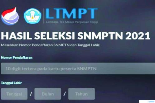 Halaman website LTMPT tentang SNPMTN. NET