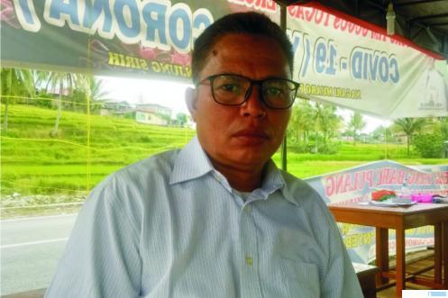 H Yoserizal, S.Ag, Wali Nagari Paninggahan, Kecamatan Junjung Sirih, Kabupaten Solok.