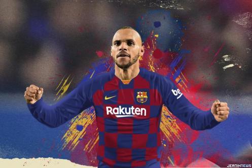 Martin Braithwaite, rekrutan baru Barcelona. BOLA.COM