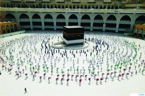 Suasana di Masjidil Harram, Makkah Almukarramah, terkini. NET