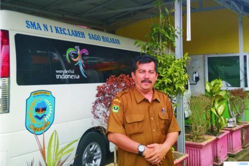 Arizon, M.Pd, Kepala SMAN 1 Lareh Sago Halaban Kabupaten Limapuluh Kota. ERZ