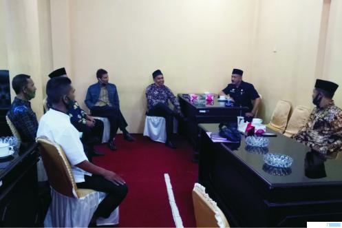 Pertemuan BPN dan Bamus DPRD Kabupaten Solok, Kamis (28/05/2020). JON