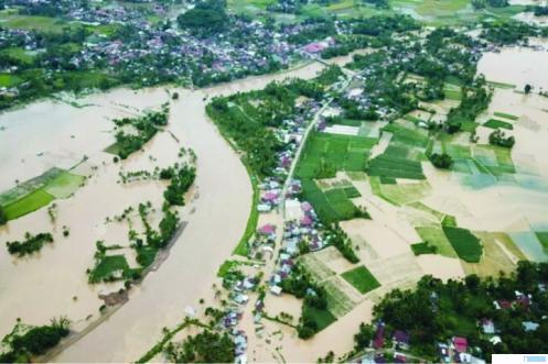 Banjir yang melanda sejumlah wilayah di Kabupaten Limapuluh Kota beberapa waktu lalu yang juga turut merusak tanaman padi warga. NET