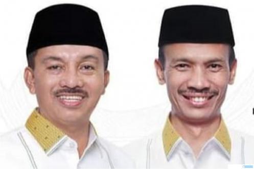 Khairunas dan Yulian Efi yang akan diambil sumpah jabatan dan dilantik sebagai Bupati dan Wakil Bupati Kabupaten Solok Selatan (2021/2024) oleh Gubernur Sumbar Mahyeldi, Senin (26/04/2021) di Auditorium Gubernuran Sumbar, Padang. NET
