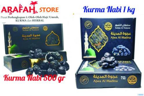Kurma Nabi atau kurma ajwa yang tersedia di Arafah Store, Padang. IST
