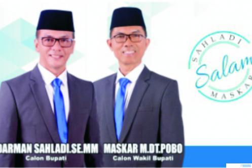 Pasangan Cabup-Cawabup Kabupaten Limapuluh Kota, Darman Sahladi- Maskar Dt. Pobo. IST