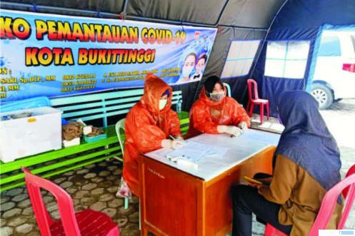 Posko antisipasi corona Dinas Kesehatan Kota Bukittinggi, Rabu (25/03/2020). JON