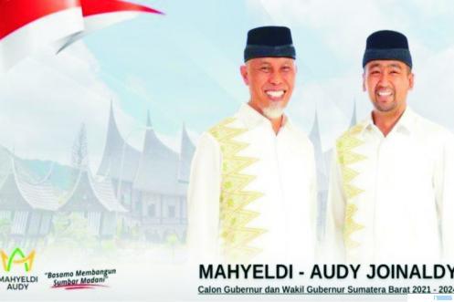Cagub dan Cawagub Sumbar Terpilih, Mahyeldi-Audy Joinaldy. NET