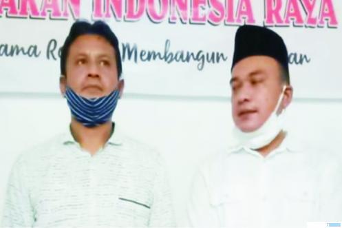 Ketua DPC Partai Gerindra Pasaman, Bustomi, SE dan Sekretaris DPC Partai Gerindra Pasaman, Edzul Benny. IST
