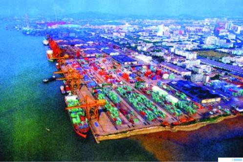 Salah satu pelabuhan ekspor-impor terbesar di Cina. NET