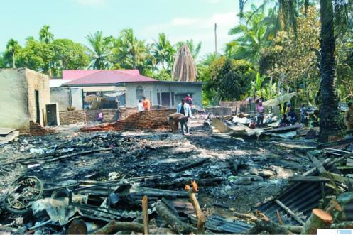 Empat Rumah Ludes Terbakar di Pasbar