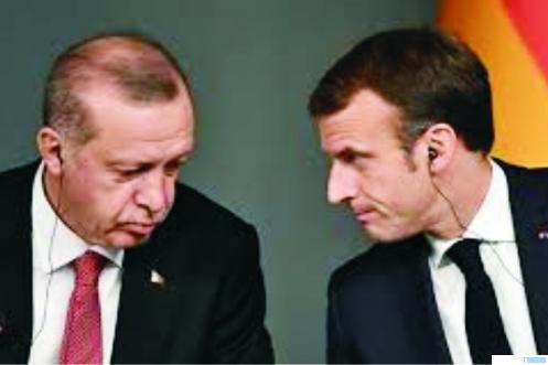 Presiden Turki dan Presiden Prancis Macron. NET