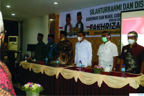 Pasangan Cagub-Cawagub Sumbar Fakhrizal-Genius Umar saat berkampanye di Hotel Mangkuto, Kota Payakumbuh, Selasa (06/10/2020). NITA
