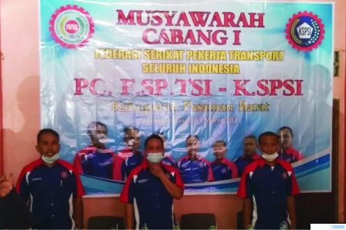 Musyawarah Cabang Federasi Serikat Pekerja Transportasi Seluruh Indonesia (F-SPTSI)Kabupaten Pasbar, Rabu (17/03/2021).