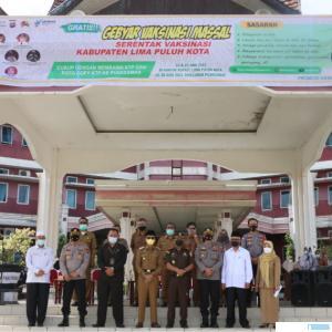 Gebyar vaksin Kabupaten Limapuluh Kota, Selasa (22/06/2021). IST